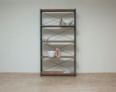 Reclaimed Home Library  Bookcase  Bakers Rack by BlakeAvenue