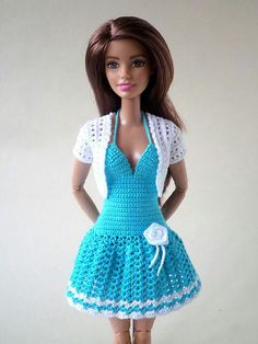 Crochet dress barbie doll