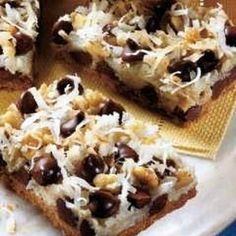 Layer sweet and chewy ingredients to make this classic bar cookie.