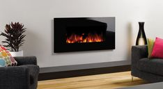 Studio Electric Glass Wall Mounted Fires - Gazco Fires