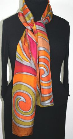 Modal Scarf - Painted in Fushcia by VIDA VIDA TjoxV9L