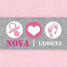Geboortekaartje Nova www.hetuilennestje.nl Roze, stippen, linnen, speen, hartje, babyvoetjes.