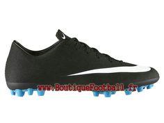 finest selection 4ba33 ceb7a Nike Mercurial Veloce II AG-R CR7 Chaussure de football à crampons pour  terrain synthétique pour Homme Noir Blanc 684866-014