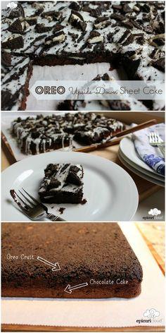 Oreo Upside Down Sheet Cake - epicuricloud.com
