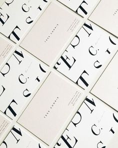 sleek typography in these business cards