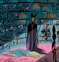 Animation Art:Concept Art, Eyvind Earle Sleeping Beauty Maleficent Concept Painting(Walt Disney, 1959)....