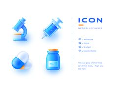 Medical Device Icon designed by haina. Connect with them on Dribbble; Design Ios, Flat Design Icons, App Icon Design, Logo Design, Graphic Design, Design Thinking, Motion Design, Launcher Icon, Lab Logo