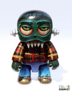FrankenToyer original custom Qee Toyer Monster by by bryancollins, $285.00
