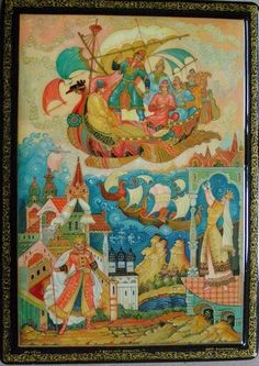 Russian lacquer miniature from the village of Mstyora.
