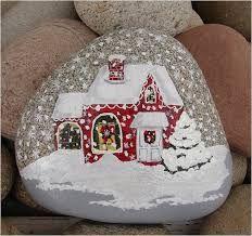 Afbeeldingsresultaat voor christmas pebbles