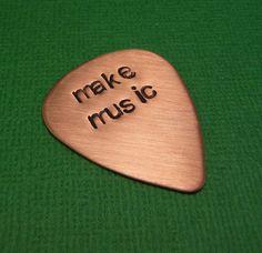 'Make Music' guitar pick