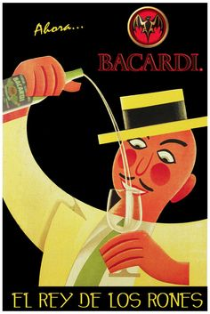 2315.Bacardi The King Of Rums Vintage Poster.Room Home Interior Design Wall Art