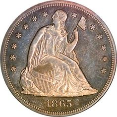 Seated Liberty Dollars - 1865 S One Dollar MS