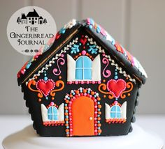 Fantastic tutorial for a no-bake gingerbread house for Day of the Dead, Dia de los Muertos, www.gingerbreadjournal.com