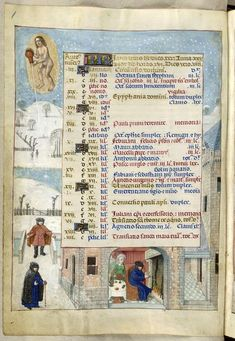 January - Isabella Breviary, Southern Netherlands (Bruges), late 1480s and before 1497, British Library, Additional 18851