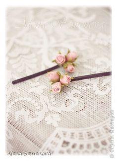 Украшение Лепка Мои цветы из глины и фоамирана для украшения прически Глина Фоамиран фом фото 2
