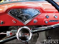 1958 Chevy Apache pickup truck restored dash with updated gauges 1959 Chevy Truck, Custom Chevy Trucks, Chevy Pickup Trucks, Classic Chevy Trucks, Chevrolet Trucks, 1955 Chevrolet, Chevrolet Apache, Chevy 3100, Chevy Pickups