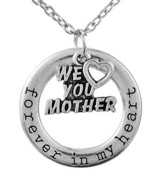 We Love You Mother Pendant Necklace