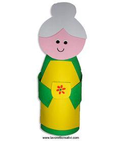 Il 2 Ottobre si celebra la Festa dei Nonni un'occasione per regalare alla vostra cara nonna un simpatico lavoretto da realizzare con un rotolo/tubo della c