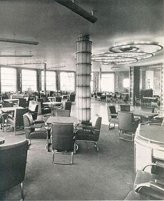 SS Normandie French Line   Cafe & Grille, SS Normandie, French Line (CGT) ...   Transatlantic Vo ...