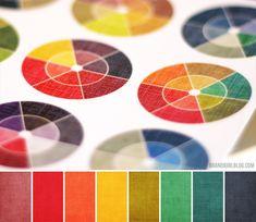Color wheel palette - nice blog by brandigirl