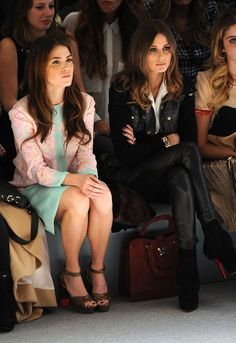 Love Nikki Reed and Olivia's style in this pic- wish I was at Fashion Week!