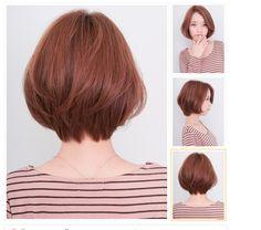 ทรงผม Short Hair Styles For Round Faces, Cute Hairstyles For Short Hair, Bob Hairstyles, Medium Hair Styles, Curly Hair Cuts, Cut My Hair, Short Hair Cuts, Korean Short Hair, Japanese Short Hair