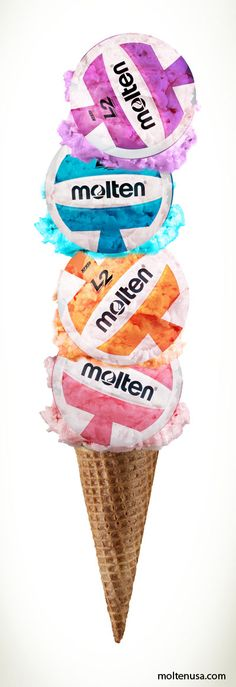 Volleyball flavored ice cream...what's your favorite flavor? #Molten #Volleyball