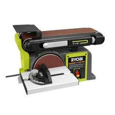 Ryobi Bench Sander Green Belt Sander Cast Iron Base Multi Position New Woodworking Power Tools, Woodworking Jigs, Woodworking Projects, Woodshop Tools, Carpentry Tools, Home Depot, Bench Sander, Garage Atelier, Ryobi Tools