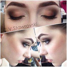 #chocolate #smoky #makeup makeup for blue eyes in chocolate/caramel eyeshadow макияж для голубых глаз в шоколадно-карамельных оттенках