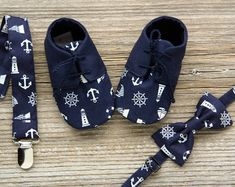 Nautical baby shoes navy blue baby boy by MartBabyAccessories Baby Boy Booties, Baby Boy Shoes, Baby Boots, Baby Boy Outfits, Toddler Outfits, Toddler Girls, Sailor Baby, Cake Smash Outfit, Baby Slippers