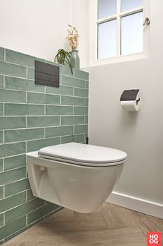 Bad Retro design tiles - Laurens Bathrooms # bathroom inspiration Deciding how much soil to buy can Small Downstairs Toilet, Small Toilet Room, New Toilet, Toilet Tiles Design, Bathroom Tile Designs, Bathroom Interior Design, Small Toilet Design, Modern Toilet Design, Bathroom Ideas