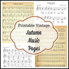 Antique Graphics Wednesday - 6 Autumn & Halloween Songs - Knick of Time