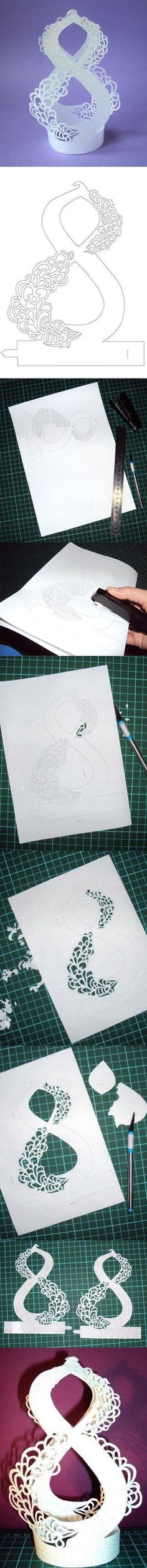 Amazing paper cut template