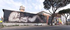 StreetArt Roma: Piedad   Borondo   2013   Zona: Tor Sapienza   #art #streetart #roma