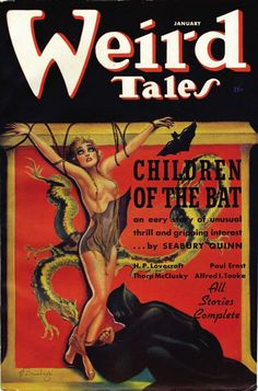 "Weird Tales: cover for ""Children of the Bat""."