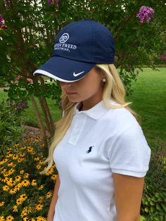 Tucker Tweed Embroidered Nike Dri Fit Navy Blue Hat