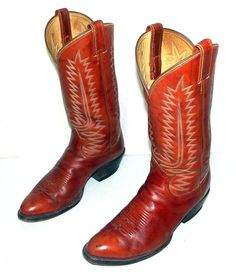 Vintage Tony Lama cowboy boots mens size 8.5 by honeyblossomstudio