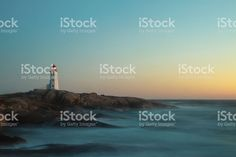 Peggy`s Cove Long Exposure royalty-free stock photo