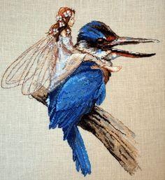Hímzés A Kingfisher (Nimue)