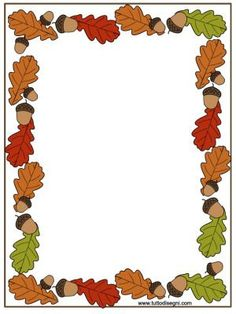 Rámeček - podzim Borders For Paper, Borders And Frames, Page Boarders, Boarder Designs, Fall Clip Art, Leaf Border, Frame Clipart, Stationery Paper, Autumn Activities