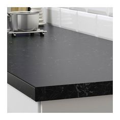 SÄLJAN Countertop, black marble effect, laminate, - IKEA Black Marble Countertops, Tile Countertops, Kitchen Countertop Materials, Marble Effect, Cuisines Design, Kitchen Colors, Kitchen Styling, New Kitchen, Kitchen Remodel