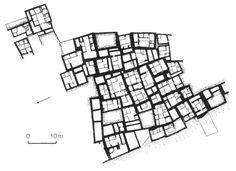 Catal Hoyuk city planning, Turkey, 9000 B.C. #cells#nostreetcity#conglomerate