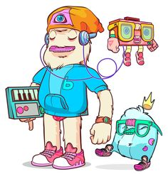Big Family Team Color characters by Andrés Ariza, via Behance