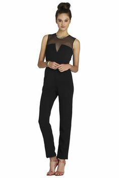 """Black Structured Sleeveless Jumpsuit!  """"Trendy, Unique and Affordable"""" - That is the main philosophy at Bling Boutique in Milford, MI!  Stop by our store to find some fashionable items that will spice up your wardrobe!  Visit www.downtownbling.com or call (248)  685-8449 for more information!"""