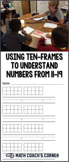 Ten-frames are a great tool to help students understand numbers from 11-19 and begin to develop place value understandings. Grab a recording sheet for free!