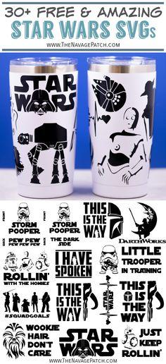 Star Wars Onesie, Star Wars Tshirt, Vinyl Crafts, Vinyl Projects, Circuit Projects, Star Wars Stencil, Star Wars Mugs, Cricut Svg Files Free, Printable Star