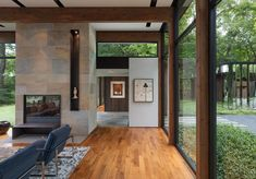 Image 28 of 39 from gallery of Woodland House / ALTUS Architecture + Design. Photograph by ALTUS Architecture + Design Modern Glass House, Glass House Design, Home Design, Design Ideas, Commercial Architecture, Residential Architecture, Architecture Design, Minnesota Home, Minneapolis Minnesota