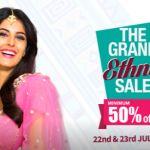 Craftsvilla The Grand Ethnic sale Offer : Craftsvilla 22-23 July The Grand Ethnic sale