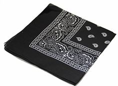 Paisley One Dozen Cowboy Bandanas (12 Packs Black) Kaiser